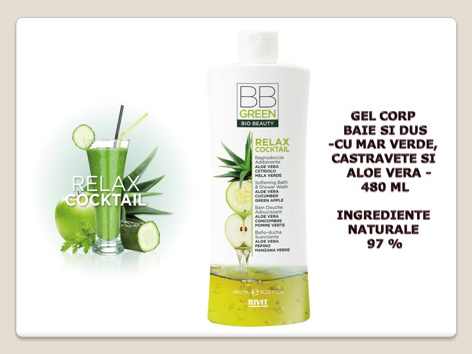 GEL CORP RELAXANT BAIE SI DUS 97% natural 480 ML